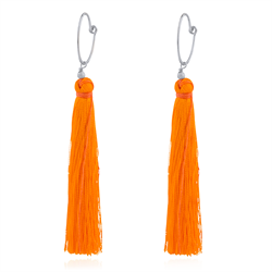Orange  Tassel øreinge