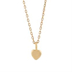 ae6f090f516 TIny Heart, Halskæde med lille hjerte, Mat forgyldt sølv