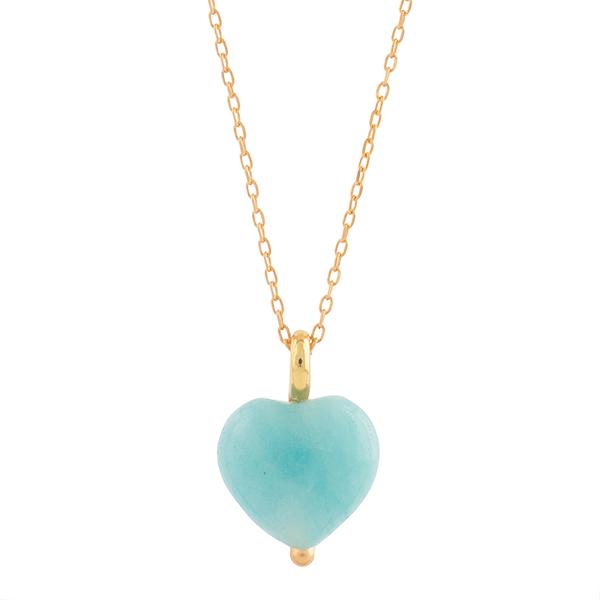 175df17623c Hjerte Halskæde med blåt hjerte.