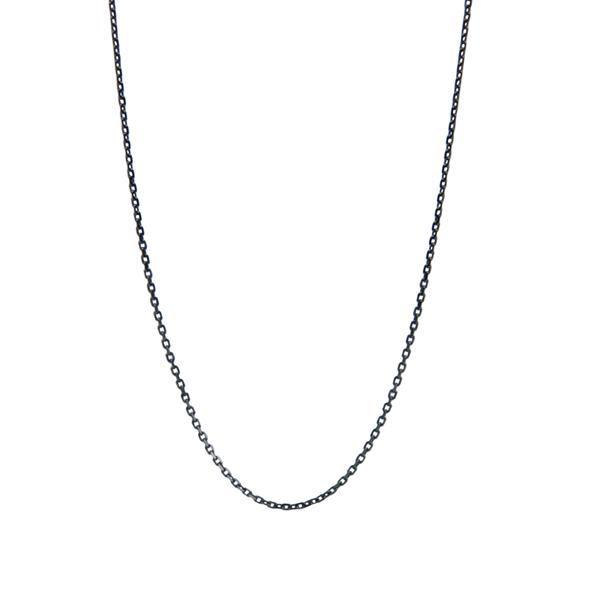 Usædvanlig Close-to-my-heart, halskæde u. tag, Anker, Sort sølv - Vælg længde GR23
