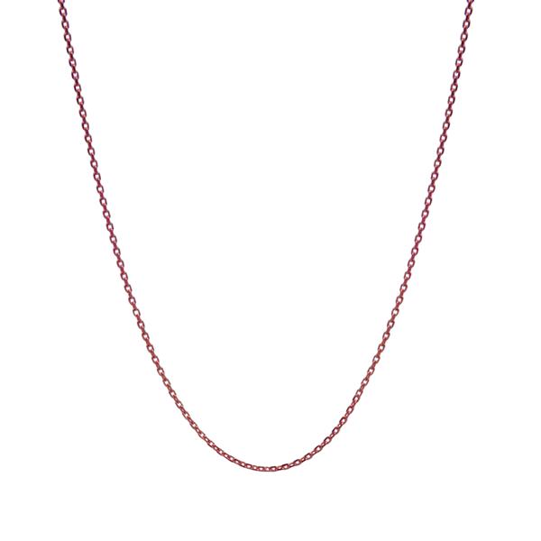 36cb9df8135 Close-to-my-heart, halskæde u. tag, Anker, rosa fg sølv - Vælg længde